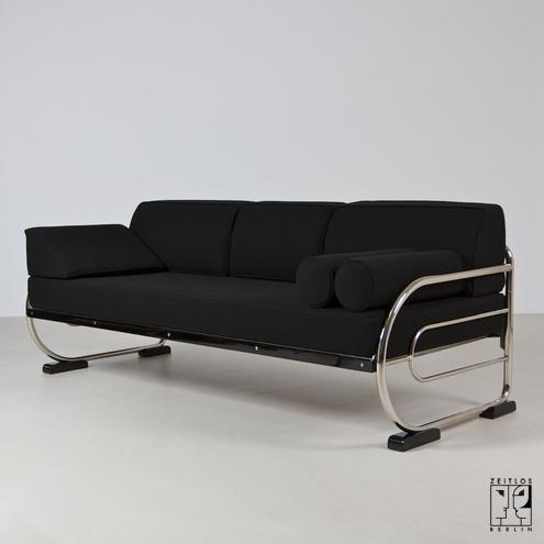 Remarkable Art Deco Couch Im Aeronautic Streamline Design Zeitlos Evergreenethics Interior Chair Design Evergreenethicsorg