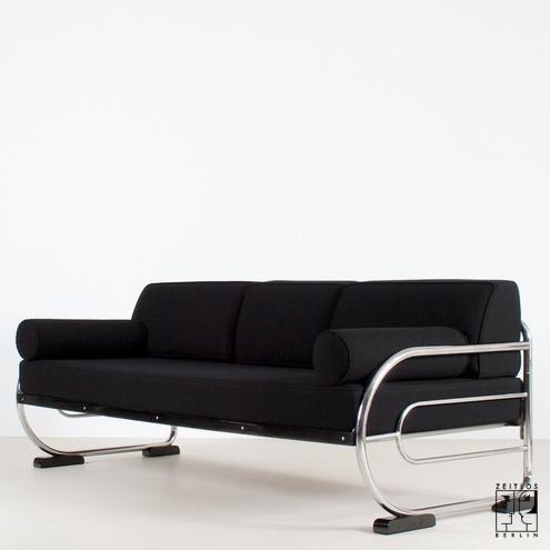 Astonishing Art Deco Sofa Im Aeronautic Streamline Design Zeitlos Berlin Evergreenethics Interior Chair Design Evergreenethicsorg
