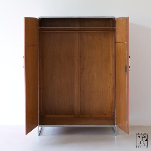 modernistischer stahlrohr kleiderschrank im bauhaus stil thonet mundus 30er jahre